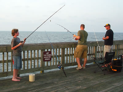 Fishing on Tybee Island SC